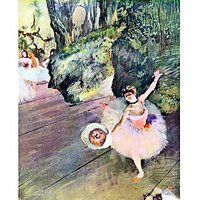 Dancer With A Bouquet Of Flowers (The Star Of The Ballet) By Degas - Canvas Art Print