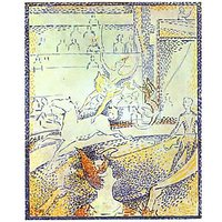 Sketch Of The Circus By Seurat - Fine Art Print