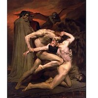 Dante And Virgil In Hell - Museum Canvas Print