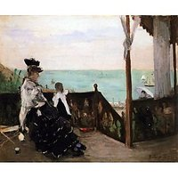 In A Villa On The Beach By Morisot - Fine Art Print