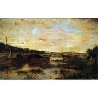The Seine Beneath The Pont D'LÃƑ©Na By Morisot - Fine Art Print