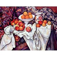 Still Life With Apples And Oranges By Cezanne - Fine Art Print