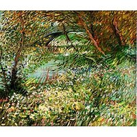 Banks Of The Seine With Pont De Clichy In The Spring - Canvas Art Print