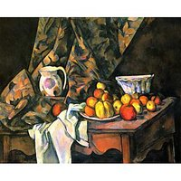 Still Life With Apples And Peaches By Cezanne - Canvas Art Print