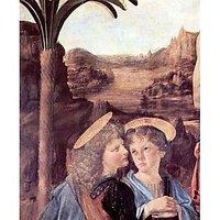 The Baptism Of Christ Detail [2] By Da Vinci - Fine Art Print