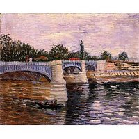 The Seine With The Pont De La Grande Jette - Museum Canvas Print