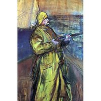 Maurice Joyant At The Bay Somme By Toulouse-Lautrec - Fine Art Print