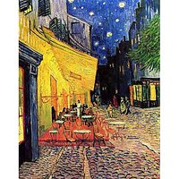 The Cafe Terrace On The Place Du Forum Arles At Night - Fine Art Print