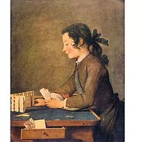 House Of Cards By Jean Chardin - Fine Art Print