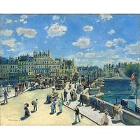 Pont Neuf, Paris By Renoir - Museum Canvas Print