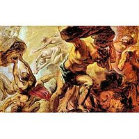 Overthrow Of The Titans By Rubens - Fine Art Print