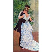 The Dance In The City By Renoir - Canvas Art Print