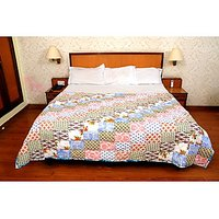 Jaipuri White Cotton Quilts & Comforters(FNR02011D)
