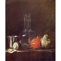 Still Life With Glass And Fruits By Jean Chardin - Canvas Art Print