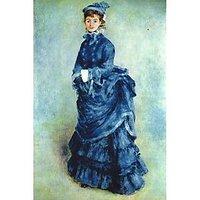 Paris Girl The Lady In Blue - Canvas Art Print