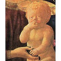 St. Anne, Central Table - The Virgin And Child, Detail Of The Child By Masaccio - Fine Art Print