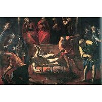 The Martyrdom Of St. Lazarus By Tintoretto - Fine Art Print