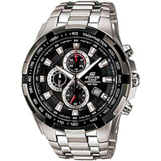 CASIO EDIFICE BLACK DIAL SPORT CHRONOGRAPH MEN WATCH EF-539 + BOX