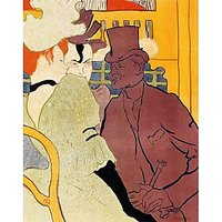 The English Man At The Moulin Rouge 2 By Toulouse-Lautrec - Museum Canvas Print
