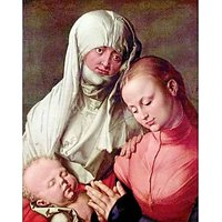 Virgin And Child With St. Anne By Durer - Canvas Art Print