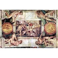 Thanks To The Victims Of Noah By Michelangelo - Museum Canvas Print
