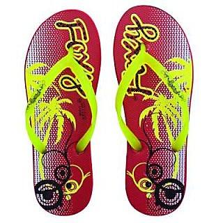 FIZIK Women Flip Flop  Red-Neon-Yellow Mini-1