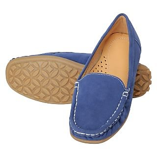 Niremo Women's Up To The Minute Blue Faux Leather Loafers - 74788832