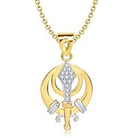VK Jewels The Vaheguru Pendant Gold And Rhodium Plated -  P1329G [VKP1329G]