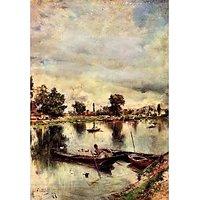 River Landscape By Giovanni Boldini - Fine Art Print