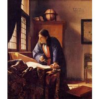The Geographer By Vermeer - Museum Canvas Print