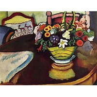 Still Life With Venison And Ostrich Pillow By August Macke - Museum Canvas Print