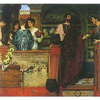 Hadrian Visiting A Roman-British Pottery By Alma-Tadema - Canvas Art Print