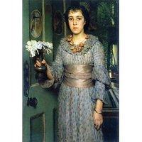 Portrait Of Anna Alma-Tadema By Alma-Tadema - Fine Art Print
