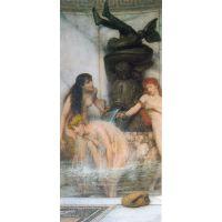 Strigilis And Sponges By Alma-Tadema - Canvas Art Print