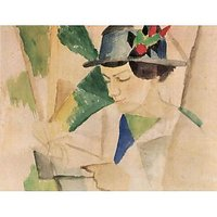 The Wife Of The Painter, Reading By August Macke - Museum Canvas Print
