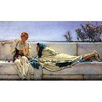 Asking By Alma-Tadema - Canvas Art Print