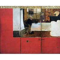 The Family Picture Of Epps, Panels 1-3 By Alma-Tadema - Canvas Art Print