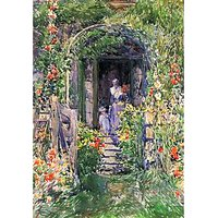 Isles Of Shoals Garden By Hassam - Fine Art Print