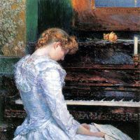 The Sonata By Hassam - Fine Art Print