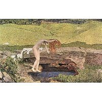 The Vanity By Giovanni Segantini - Canvas Art Print