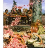 The Roses Of Heliogabalus Detail 2 By Alma-Tadema - Museum Canvas Print