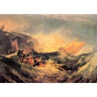 Wreck Of A Transport Ship By Joseph Mallord Turner - Fine Art Print