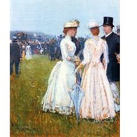 At The Grand Prix In Paris By Hassam - Fine Art Print