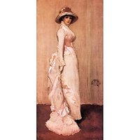 Nocturne In Pink And Gray, Portrait Of Lady Meux By James Abbot Mcneill Whistler - Canvas Art Print