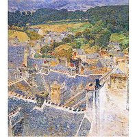 Roofs, Pont-Aven By Hassam - Museum Canvas Print