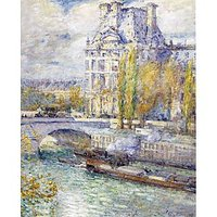 The Louvre On Pont Royal By Hassam - Canvas Art Print