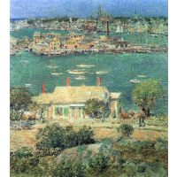 The Port Of Gloucester [2] By Hassam - Canvas Art Print