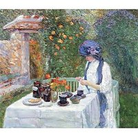 The Terre-Cuits Tea Set By Hassam - Fine Art Print