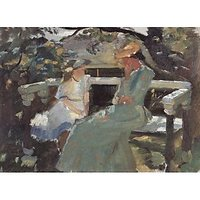 On The Garden Bench, And Anna Hekga Thorup By Anna Ancher - Canvas Art Print