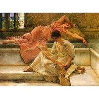 A Favorite Poet By Alma-Tadema - Canvas Art Print